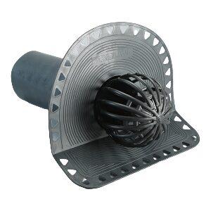Водостічна воронка парапетна з круглою трубою ∅100 мм, L = 280 мм (для бітумної плоскої покрівлі)